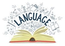 langage illustration stock