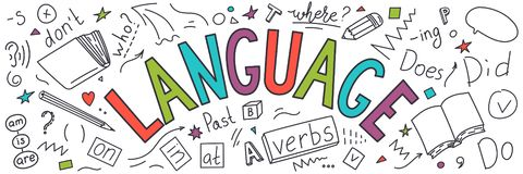 langage illustration libre de droits