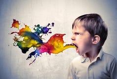 Langage coloré photographie stock libre de droits
