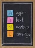 Langage de balisage hyper des textes - HTML Image stock