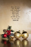 Langage de Noël d'image Photos stock