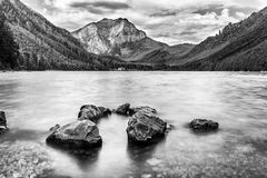 Langbatsee. Lake Langbathsee in the Alps in Austria royalty free stock photography
