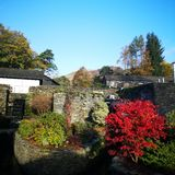 A Langdale Autumn sky stock photography