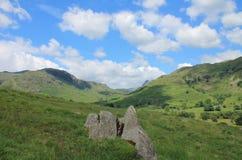 Langdale dal Cumbria Arkivbilder
