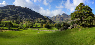 The Langdale Pikes from Copt Howe Royalty Free Stock Photography