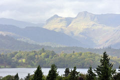 The Langdale Pikes, Cumbria Royalty Free Stock Image