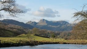 The Langdale Pikes Cumbria Royalty Free Stock Image