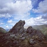 Langdale Pikes in the English Lake District stock photography