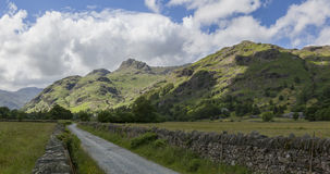 Langdale Pikes from Green Lane Stock Image