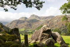 Langdale Pikes in Lake District Royalty Free Stock Photo