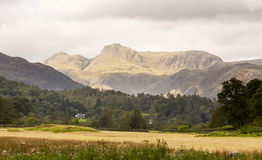 Langdale Pikes in Lake District Stock Photography