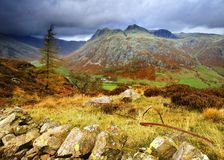 The Langdale Pikes Royalty Free Stock Photography