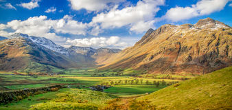 Langdale Pikes looking towards Bow Fell, The Lake District Royalty Free Stock Photo