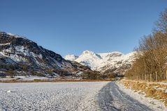 Langdale Pikes mountains Royalty Free Stock Photo