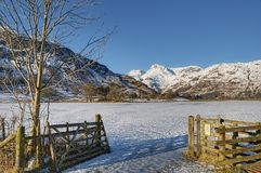 Langdale Pikes mountains Royalty Free Stock Photography