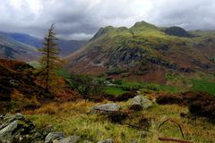 The Langdale Pikes Stock Image