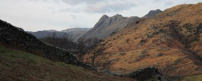 The Langdale Pikes Royalty Free Stock Images