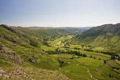 Langdale Valley. View of the Langdale Valley from Pike o'Stickle Royalty Free Stock Image