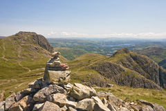 Langdale Valley. View of Harrison Stickle and the Langdale Valley from Pike o'Stickle Stock Photography