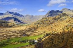 Langdale Valley Royalty Free Stock Photos