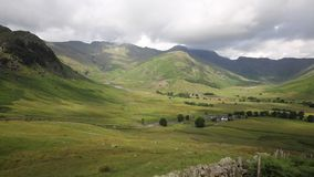 Langdale Valley Lake District Cumbria England UK in summer. On walk from campsite to Blea Tarn stock video footage
