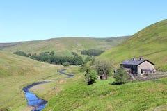 Langden bäck, ho av Bowland, Lancashire Arkivbilder