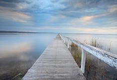 Lange Anlegestellen-Ruhe, Australien Stockbilder