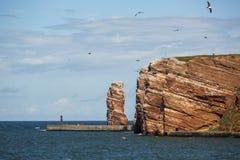Lange Anna - ο σωρός ανοικτών θαλασσών στο νησί Helgoland Στοκ φωτογραφίες με δικαίωμα ελεύθερης χρήσης