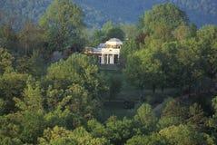 Lange Ansicht von Thomas Jefferson Monticello lizenzfreie stockfotografie