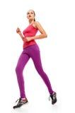 Lange Beine Läuferfrau in voller Länge Stockbild