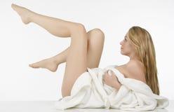 Lange Beine Schönheit Whit stockbilder