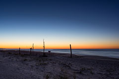 Lange Belichtung als die Sonnenaufgänge über dem Atlantik Lizenzfreie Stockfotografie