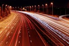 Lange Belichtung - Autobahn Lizenzfreie Stockfotos