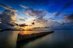 Lange Belichtung des Sonnenaufgangs in Phuket, Thailand Lizenzfreies Stockfoto
