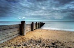 Lange Belichtung des Strandes lizenzfreies stockbild