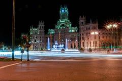 Lange Belichtung Madrids Stockfotografie