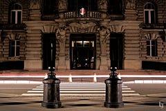 Lange Belichtung in Straßburg lizenzfreie stockfotos
