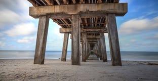 Lange Belichtung von Neapel-Pier, Florida stockbild