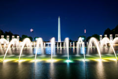 Lange Belichtung Washington Monument Throughs der Weltkrieg T Lizenzfreies Stockfoto