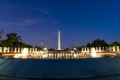 Lange Belichtung Washington Monument Throughs der Weltkrieg T Stockfoto