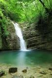 Lange Belichtungsfotos von Tatlica-Wasserfall in Erfelek, Sinop in der Türkei lizenzfreie stockfotos