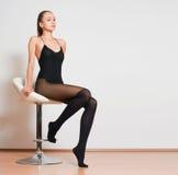 Lange benen in kousen royalty-vrije stock fotografie