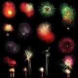 Lange Berührung des Feuerwerkhintergrundes Stockbild