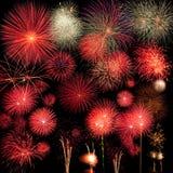 Lange Berührung des Feuerwerkhintergrundes Stockbilder