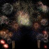 Lange Berührung des Feuerwerkhintergrundes Lizenzfreies Stockbild