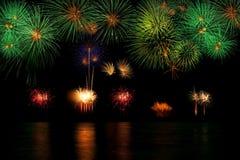 Lange Berührung des Feuerwerkhintergrundes Lizenzfreie Stockbilder