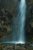 Lange Berührung eines Wasserfalls in Neuseeland Lizenzfreie Stockfotos
