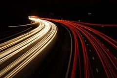 Lange Berührungsverkehrsschüsse lizenzfreies stockbild