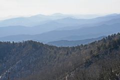 Lange bergketen in Asheville Noord-Carolina stock fotografie