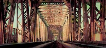 Lange Bien-Brücke, Hanoi, Vietnam Lizenzfreies Stockbild